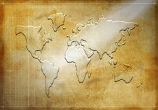 World map silhouette Stock Image