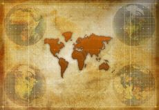 World map silhouette Royalty Free Stock Photography