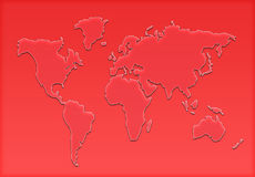 World map silhouette Royalty Free Stock Photos