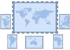World map silhouette illustration Royalty Free Stock Image