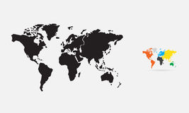 World map. Silhouette, vector Stock Photography