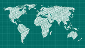 World Map Sketch Royalty Free Stock Image