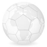 World map soccer ball Stock Image