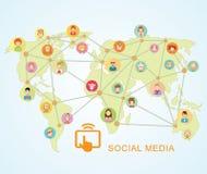 World Map,Social Media Communication Internet Network Doodle, Vector Illustration. World Map,Social Media Communication Internet Network Doodle, Vector Royalty Free Stock Image