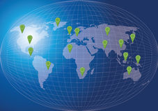 World Map Social Network Concept. Stock Image