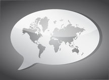 World map speech bubble illustration design Royalty Free Stock Photography