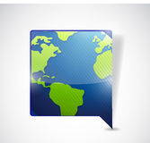 World map speech bubble. illustration design Royalty Free Stock Photography