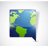 World map speech bubble. illustration design Royalty Free Stock Photography