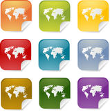 World map square Stock Image