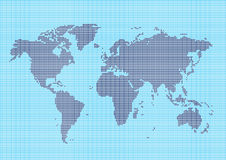 World map with square shapes Stock Image