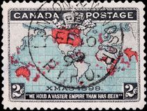 World Map Stamp Royalty Free Stock Photo