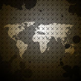 World map steel texture design background Royalty Free Stock Photo