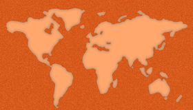 World Map Stencil Stock Image