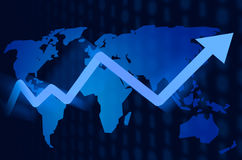 World map stock market background Royalty Free Stock Photography