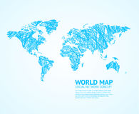 World Map Stylize. Vector. World Map Stylize on Light. Social Network Concept. Vector illustration Stock Photography