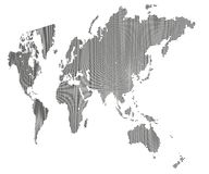 World Map, stylized squares Royalty Free Stock Photo