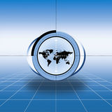 World map target Royalty Free Stock Photo