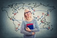 World Map Teacher Royalty Free Stock Photo