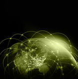World map on a technological background. America. Best Internet Concept of global business. Elements of this image Royalty Free Stock Photos