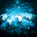 World map on a technological background. Best Internet Concept of global business. Elements of this image furnished by Stock Image
