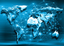 World map on a technological background. Best Internet Concept of global business. Elements of this image furnished by Royalty Free Stock Images
