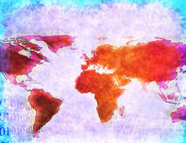 World map technology background Royalty Free Stock Images