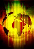 World map technology background Stock Photos