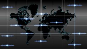 World map technology background. vector illustration. royalty free stock photography