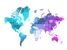 World map technology illustration design Stock Photos