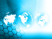 World map technology style Stock Image