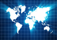 World map technology-style Royalty Free Stock Photo