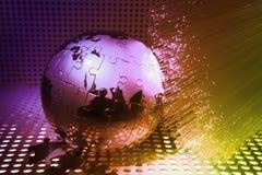 World map technology style Stock Photo