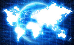 World map in technology style Royalty Free Stock Photo