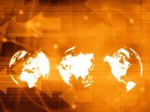 World map technology style Royalty Free Stock Image