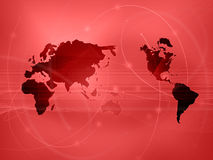 World map technology-style Stock Photo