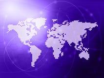 World map technology-style Stock Photos