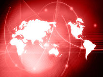 World map technology-style. (America,Europe,asia Royalty Free Stock Images