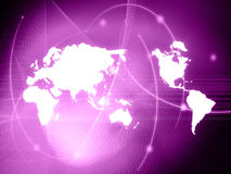 World map technology-style Royalty Free Stock Photography