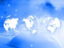 World map technology-style Royalty Free Stock Photo