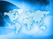 World map technology-style. (America,Europe,asia Stock Photos