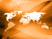 World map technology-style. (America,Europe,asia Stock Images