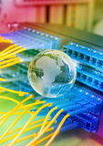 World map technology style against fiber optic. Background Stock Photos