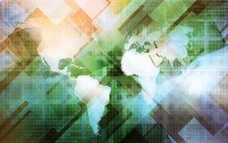 World map technology-style Stock Image