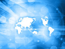 World map technology style Stock Images