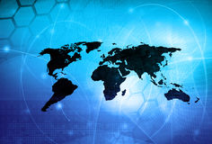World map technology style. Perfect background with space for text or image Royalty Free Stock Image