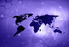World map technology style Stock Photography