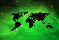 World map technology style. Perfect background with space for text or image Royalty Free Stock Photo