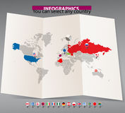 World map template Royalty Free Stock Photos