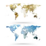 World map template, triangle design vector Stock Photography