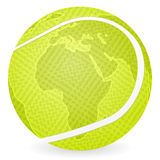World map tennis ball Stock Photos